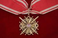 знак ордена св. станислава II с мечами на шейной ленте