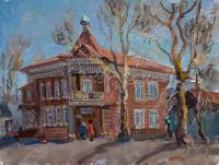 картина «старинный особняк г. Барнаул» - собственность часной коллекции.