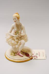 статуэтка «Балерина», Capodimonte кружевной фарфор