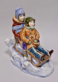 статуэтка «Дети на санках» конаково, современная Россия 2008 год