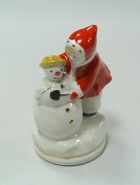 статуэтка «Девочка со снеговиком» киевский экспериментальный керамико-художественный завод, киев 1990 гг.