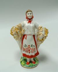 статуэтка «Девушка со снопом» лфз, период ссср 1950 гг.