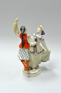 статуэтка танец Дружба, городницкий фарфоровый завод, период ссср 1957-1960 гг.