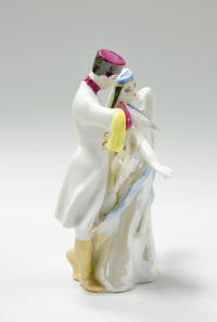 статуэтка «Грузинский танец» дулёво, период ссср 1965 год.