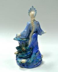 статуэтка «Хозяйка медной горы» гжель, период ссср 1950 гг.
