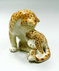 статуэтка «Леопард» лфз, период ссср 1970-1980 гг.