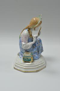 статуэтка «Малахитовая шкатулка» Дулёво, период ссср 1963 год.