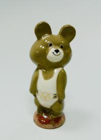статуэтка «Олимпийский мишка» период ссср 1980 гг. Кисловодская ф-ка сувениров