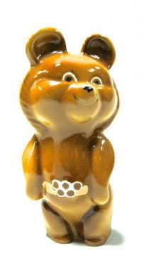 статуэтка «Олимпийский мишка», период ссср 1980 год.