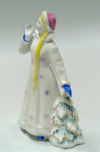 статуэтка «Снегурочка» дулёво, период ссср 1965 год.