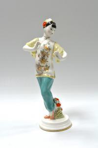 статуэтка «Танцующая китаянка» дфз в вербилках, период ссср 1960 гг.