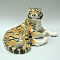 статуэтка «Тигр лежащий» лфз, период ссср 1950-1960 гг.