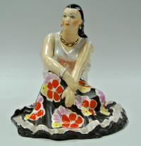 статуэтка «Земфира сидящая» Дулёво,  период ссср 1962 год.