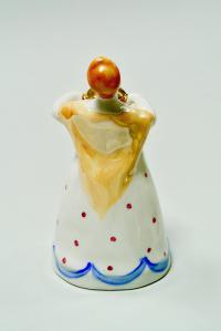 статуэтка «Женщина с самоваром» дулёво, период ссср 1970-1980 гг.