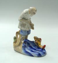 статуэтка «Золотая рыбка» гжель, период ссср 1950 гг.