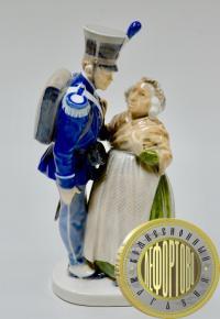 Статуэтка фарфор Солдат и Ведьма По сказке Андерсена Огниво Royal Copenhagen Дания 1969-74