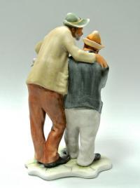 статуэтка фарфоровая  «Два весёлых друга», Porfin Cluj Napoca, Румыния, 1970-80 гг