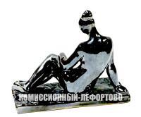 статуэтка гжель обнаженная из серии времена года лето, весна скульптор Шульц Гавриил Александрович 1966 гг.