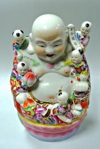 статуэтка  Хотей с детьми, Китай 1980 гг