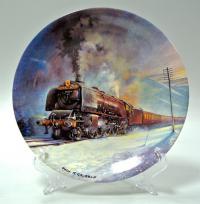Steam Trains Паравозы Davenport Тарелка коллекционная Англия
