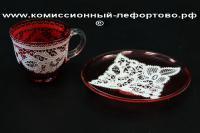 кофейная пара стекло, европа XIX век