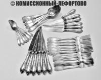 столовые приборы 36 предметов, мельхиор зиш украина, период ссср 1970 гг.