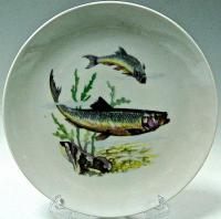 столовый фарфоровый сервиз серия охота-рыбалка, kahla гдр 1970 гг.