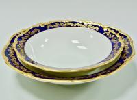 столовый сервиз Reichenbach, кобальт золото 35 предметов Германия 1950-1970 гг.