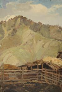 картина «стоянка в горах Шебалино» - собственность частной коллекции.