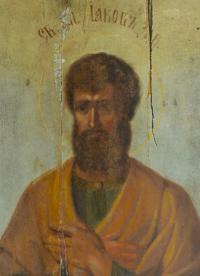икона Святой апостол Иаков Зеведеев начало XX века.