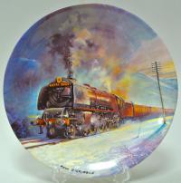 тарелка коллекционная ROYAL SCOT, паровозы