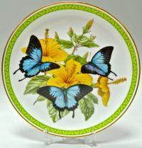тарелки коллекционные настенные BUTTERFLY of the WORLD, бабочки мира