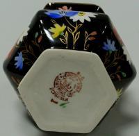 ваза черная «Полевые цветы» миниатюра дфз вербилки, период ссср 1940 гг.