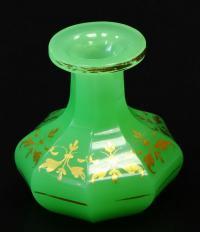 ваза декоративная богемское стекло европа 1870 - 80 гг.