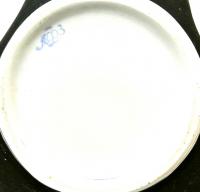 ваза декоративная чёрный бархат, период ссср 1950-1960 гг.