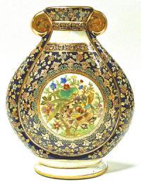 ваза для цветов, роспись техника мориаж китай 1980 гг.