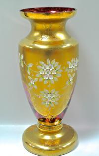 ваза интерьерная, богемия чсср 1970 гг.
