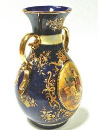 ваза интерьерная деколь, кобальт, китай 1980 гг
