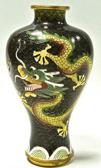 Ваза интерьерная клуазоне, Китай 1950-1960 гг.