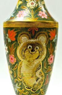 ваза настольная «Олимпиада 80», Индия 1980 год.