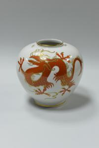 ваза дракон, Wallendorf Schaubach-Kunst Тюрингия, Германия 1950-е гг.