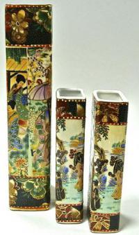 вазы прямоугольной формы, набор из трёх штук, китай 1990 гг.
