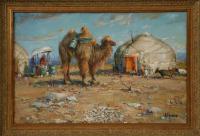 картина «Верблюд водовоз, Монголия» - собственность частной коллекции.