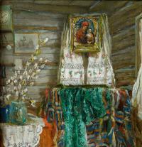 картина «Вербное воскресение» - собственность частной коллекции.