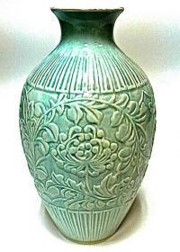 ваза пионы, селадон вьетнам 1950 гг.