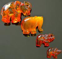 янтарные слоники